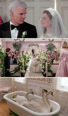 10 of the best movie weddings - Father of the Bride Movie Wedding Dresses, Wedding Movies, Wedding Scene, Wedding Bride, Dream Wedding, Wedding Fun, Wedding Pics, Wedding Bells, The Bride Movie