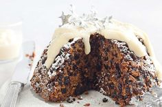 """""""I love adding bonus nutrition to desserts, and my pudding is packed with healthy extras, including quinoa, prunes and almond meal"""" - Louise Fulton Keats Whole Food Recipes, Cake Recipes, Dessert Recipes, Xmas Recipes, Pudding Recipes, Christmas Pudding, Xmas Food, Christmas Cooking, Sugar Free Biscuits"""