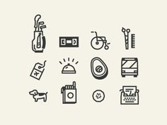 Dribbble - Icon work by Matt Lawson
