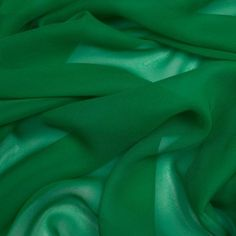 Kelly Green Silk Chiffon