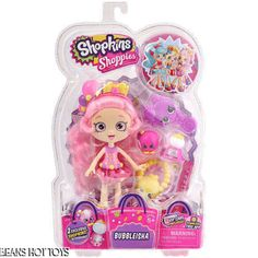 Shopkins Shoppies Popette and Bubbleisha Set with Shopkins Accessories and 2 Vip Card. Shopkins Shoppies Hard to Find Shopkins Popette 2 Exclusive Shopkins Accessories and Shopkins Shoppies Bubbleisha 2 Exclusive Shopkins Accessories Vip Card Included. Shoppies Dolls, Shopkins And Shoppies, Toys R Us, Kids Toys, Toys For Girls, Gifts For Girls, Girl Gifts, New Shopkins, Shopkins Girls