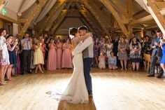 Newlyweds perform their first dance in the Bridge Barn at Bassmead Manor Barns August Wedding, Summer Wedding, Our Wedding, Vintage Color Schemes, Multi Way Dress, Wild Orchid, Wedding Breakfast, Barn Wedding Venue, Bridesmaid Dresses
