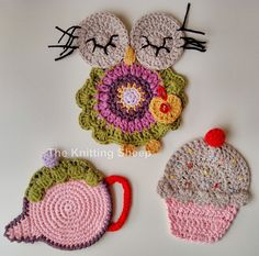Crochet Coaster / Posavasos a ganchillo https://www.facebook.com/TheKnittingSheep?ref=hl
