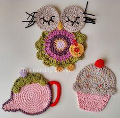 Crochet Coaster / Posavasos a ganchillo https://www.facebook.com/TheKnittingSheep?ref=hl