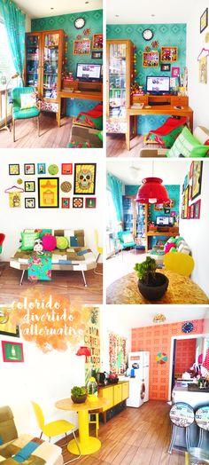 Sala container da Patrícia do blog Remobília, não é uma lindeza que só? <3
