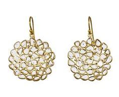 Medium Diamond Slice Dish Earrings