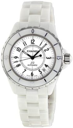Chanel Women's H0970 J12 White Ceramic Bracelet Watch >>> Check out this great product.