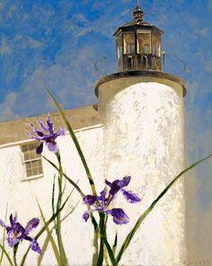 Jamie Wyeth, Iris at Sea, Study #2, 1993, combined mediums on toned board, 20 1/16 x 16⅛ x 1¾ inches; Farnsworth Art Museum, Rockland, Maine, Bequest of Mrs. Elizabeth B. Noyce, 1997.3.58