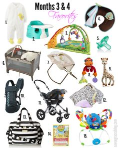 New Mama 101: Baby Favorites for Months 3 & 4. Best baby products.