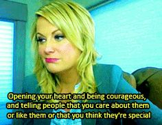 """Opening your heart and being courageous, and telling people that you care about them or that you think they're special only makes you a better, bigger, kinder, softer, more loving person and it only attracts more love into your life"". This piece of advice: 