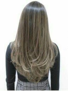 New Hair Color Californianas Beautiful 61 Ideas Long Layered Haircuts, Haircuts For Long Hair, Hair 2018, Super Hair, Hair Highlights, Balayage Hair, Hair Dos, Dark Hair, New Hair