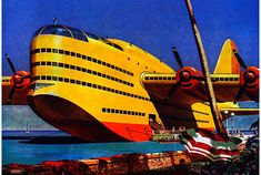 Enormous retro seaplane.