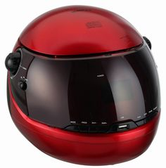 Sunstech CRHUM900RED - Radio AM/FM analógico (diseño de casco, CD, USB, 2 x 0, 8W RMS) rojo - Electrónica - Amazon.es
