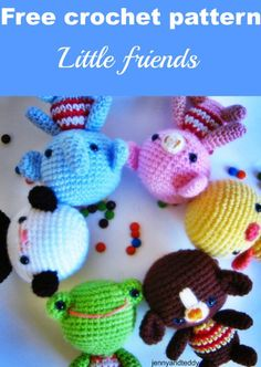 Little friends amigurumi free crochet pattern with very detail step by step photo tutorial by jennyandteddy.