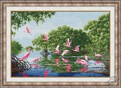 Rosy Pelicans - Cross Stitch Kits by ZOLOTOE RUNO - LP-040
