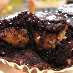 Peanut Butter Filled Chocolate Cupcakes (Gluten-free, Vegan)
