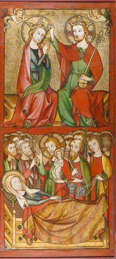 The Death (Dormition) of the Virgin and The Coronation of Mary // 1325 - 1335 // Rheinischer Meister // © Städel Museum
