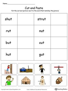 early childhood sorting and categorizing worksheets alphabet and reading word families. Black Bedroom Furniture Sets. Home Design Ideas