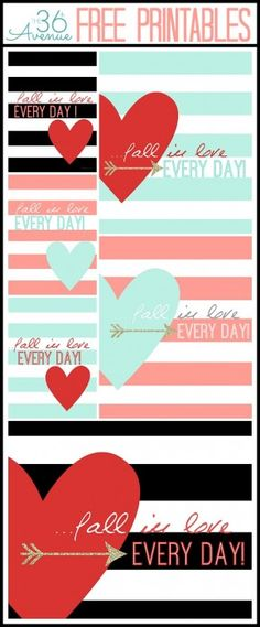 The 36th AVENUE | Free Printables ~ Fall In Love