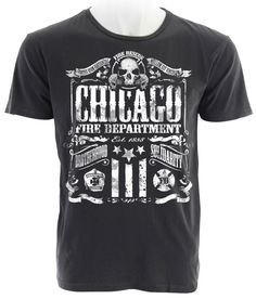 "Chicago - ""The Brotherhood"" Firefighter Tee - Rising Sun Graphics"