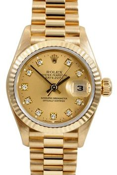 I sigh when I open it up and come face to face with a graphite and gold Rolex. It's the women's equivalent to Jesse's