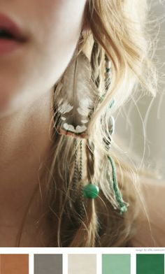 cool feather and beads