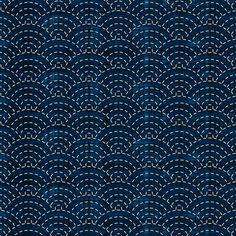 Sashiko: Seikaiha - Ocean waves - Spoonflower