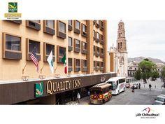 A dos cuadras del H. Ayuntamiento de Chihuahua, se encuentra estratégicamente ubicado nuestro HOTEL QUALITY INN CHIHUAHUA, en la calle de Victoria # 409 Col. Centro. A un costado de la Catedral. Ponemos a disposición de nuestros huéspedes todo el confort y servicios de un Gran Hotel. Contamos con restaurante y gimnasio; En su próxima visita de negocios o placer lo invitamos a hospedarse con nosotros. Informes al teléfono (614) 439 9000 o en nuestra página www.qualityinnchihuahua.com…