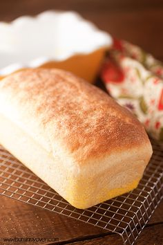 Homemade English Muffin Bread #recipe - tastes just like an english muffin!: