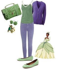 """Disney Inspired Outfit - Princess Tiana"" by jess-loves-tw ❤ liked on Polyvore"