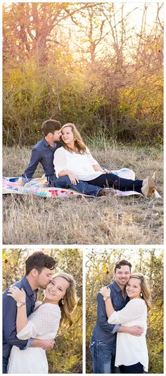 DFW Fort Worth Aledo photographer Angela Wynn photography: engagement session, cute, field, quilt, back light, gorgeous, love, styled, fun, nature, portrait ideas, beautiful, photography, creative, unique, couples ideas, engagements, young love, classy, quilt