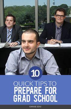 10 Quick Tips to Prepare for #Grad School