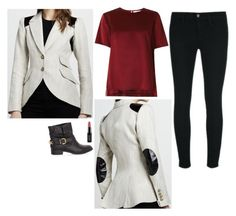 Thea Queen Inspired Outfit by daniellakresovic on Polyvore featuring Prabal Gurung, Smythe, J Brand and NYX