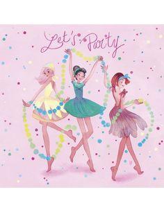 """Carte d'art """"Let's Party"""""""