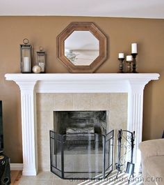 For those of you lucky enough to have a fireplace with a mantel, the  choices for how to decorate it are endless. Mirror, art, seasonally, p.