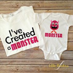 I've created a monster! Mommy and me set Coming soon in green!