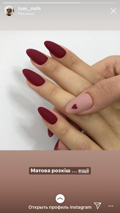 Glam Matte Burgundy Nails Brianna Marie Vaughn Pinterest