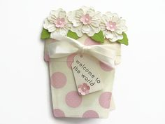 Hey, I found this really awesome Etsy listing at https://www.etsy.com/listing/240763540/welcome-to-the-world-card-baby-flower