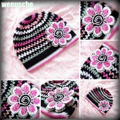 Bonnet Crochet, Crochet Beanie Hat, Crochet Cap, Crochet Baby Hats, Cute Crochet, Crochet Scarves, Knitted Hats, Newborn Crochet Patterns, Crochet Flower Patterns