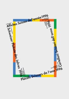 Rosmarie Tissi — Swiss Posters of the Year, exhibition poster (1996) in Poster