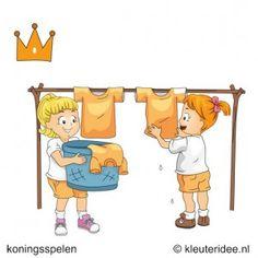 Oranje Was, koningsspelen voor kleuters, kleuteridee.nl ,11 .
