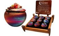 We love these little fetish dream catcher boxes from Raku Potteryworks. Made in the USA, they are a great gift to take abroad.