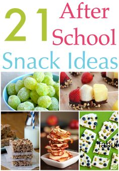 21 After school snack ideas your kids will love