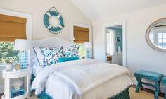 turquoise coastal bedroom   Kate Jackson Design