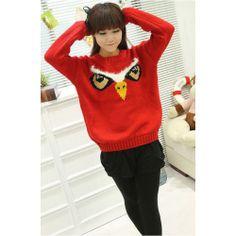 wholesale women Women Red Cotton Blends Sweater $ 9.17