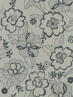 Adeliade Floral Wallpaper by Brewster. Find this pattern at AmericanBlinds.com.