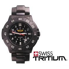 dfc352f757 UZI Protector Tritium, Black Face, Black Dial, Metal Bracelet - EBG Outdoor  Products