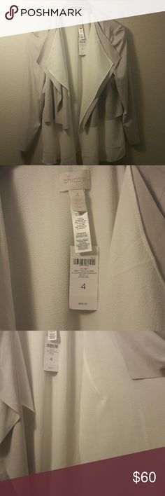 NWT, Chico's Gray Faux Suede Jacket PS size 4, Gray Faux Jacket Perfect for any occasion Chico's Jackets & Coats Blazers