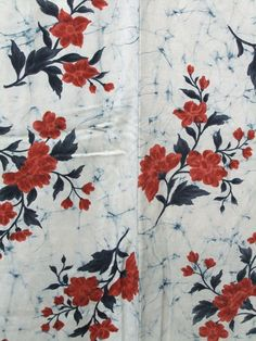 ☆ New Arrival ☆ 'Sentimental Journey' #enchanting #womens #vintage #off-white #silk #kimono #red #floral #pattern from #FujiKimono http://www.fujikimono.co.uk/fabric-japanese/sentimental-journey.html #textile #costume #fashion #kawaii #cosplay