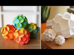 The Perfect DIY Pretty 3D Paper Ball Ornaments